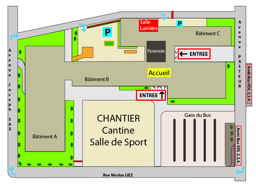 Plan daccés et Parking Chantier